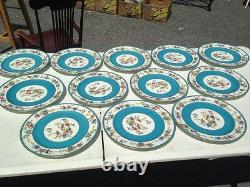 12 Gold Accent Bailey Banks Biddle Plates China -France Patented BEAUTIFUL