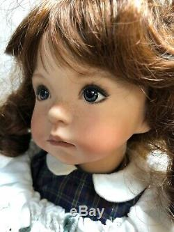 13.5 Porcelain Artist Doll Hand Painted Jenny By Dianna Effner Artist Sample