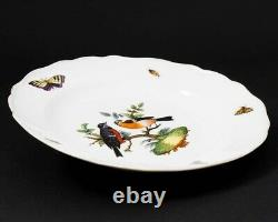 19th Century Meissen Porcelain Hand-painted Rothschild Plate Bird & Insect 9.5