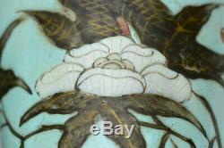 19th Chinese Guangxu Dayazhai Turquoise Grisaille Porcelain Vases