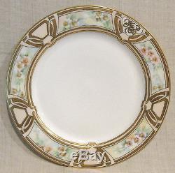 6 Haviland Art Nouveau Hand Painted Dinner Plates