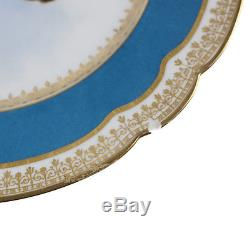 6 Sevres France Porcelain Hand Painted Portrait Plates, c. 1900 Signed O Brun