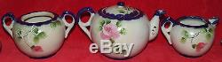 ANTIQUE JE-OH CHINA NIPPON HAND PAINTED PORCELAIN TEA SET BY NAGOYA SEITO 12pc
