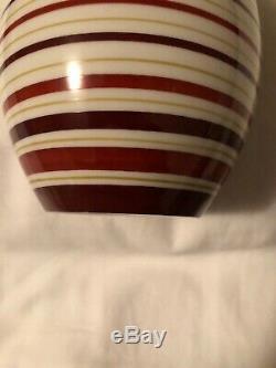 Allach Porcelain Vase #504 Hand Painted Striped Vintage Rare German Militaria