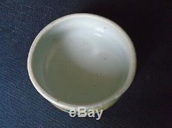 An antique large Chinese porcelain F/V Jar & cover, Kangxi dlb'blue circle mark