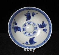 Ancient Rare Chinese Blue and White Hand Painting Porcelain Bowl Marks