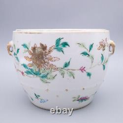 Antique 19th Century Chinese Export Famille Rose Porcelain Kamcheng Pot