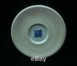 Antique Chinese Hand Painting Blue and White Porcelain Brush Pot Marked