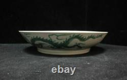 Antique Chinese Hand Painting Vivid Dragon Porcelain Plate ChengHua Marks