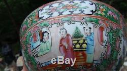 Antique Chinese Porcelain Famille Rose Hand Painted Small Bowl With Court Scene