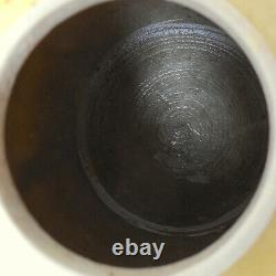 Antique Chinese Qing Dynasty Yellow Wang Bingrong Ginger Jar Character Seal Mark