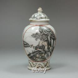 Antique Chinese grisaille tea caddy, Qianlong (1736-95)