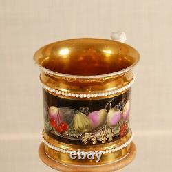 Antique Empire Old Paris porcelain French cabinet cup & saucer 19th c Sevres