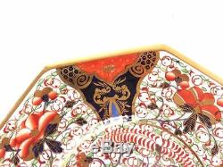 Antique English Porcelain Hand Painted Imari Comport Retailed By Maple Co London