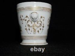 Antique French Old Paris Porcelain Hand Painted Cachepot Planter Chinoiserie