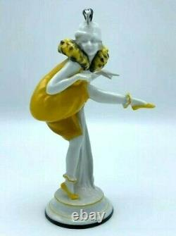 Antique Galluba & Hoffman Dancer Flapper Porcelain Figurine German Art Deco RARE