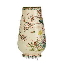 Antique Hand Painted Japanese Satsuma Pottery Vase 19th C