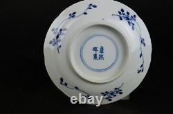 Antique Handpainted Chinese Porcelain Cup & Saucers Long Eliza 19thC, Kangxi MK