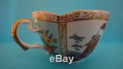 Antique Helena Wolfsohn Dresden Fine Porcelain Hand Paint Cup Saucer German