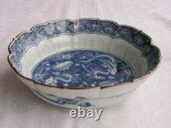 Antique Japanese Imari Arita bowl with fish 1760-90 handpainted #4277