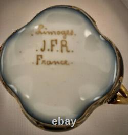 Antique Limoges Demitasse Cup & Saucer, Cupid