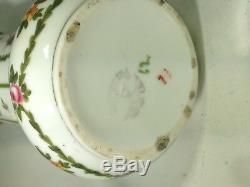Antique Pair of Versailles Hand Painted Porcelain & Ram Heads Dore Bronze Vases
