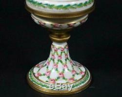 Antique Porcelain Urn/Pokal withBronze Mounts Hand-Painted Sevres France dat. 1770