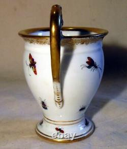 Antique Richard Klemm Porcelain Cup & Saucer Exotic Birds Insects Hand Painted a