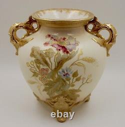 Antique Royal Bonn Hand Painted Porcelain Floral Centerpiece Jardiniere Vase