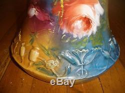 Antique Royal Bonn porcelain hand painted flowers 12 Vase Franz Mehlem Germany