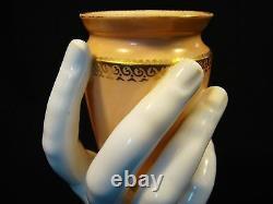 Antique Royal Worcester James Hadley Hand Painted Parian Hand Vase c1865