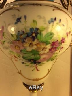 Antique Sevres Style Hand Painted Porcelain Urn Vase Bronze Mounted. 14