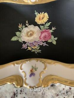 Antique Vintage Lindner Kueps Bavaria Hand Painted Stunning Porcelain Bowl