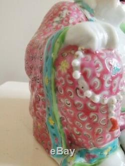Antique chinese porcelain buddha figurine