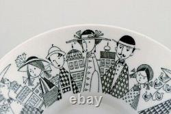 Arabia, Finland. Bowl in porcelain with hand-painted urban motif. Finnish design