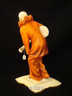 Art Deco Handpainted Porcelain Pierrot Royal Dux
