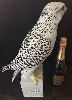Augarten Wien Hand Painted Art Deco Porcelain Falcon Hawk Bird Aigner Gyrfalcon