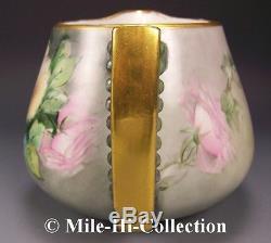 Bavaria Hand Painted Roses Porcelain Cider Pitcher