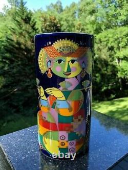 Bjorn Wiinblad Rosenthal (Germany) Studio-Linie 7.5 Hand-Painted Porcelain Vase