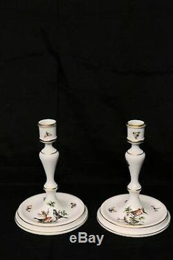 Candle holders. Herend Rothschild Bird hand painted porcelain. Free shipping