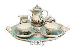 Charming Meissen Hand Painted Porcelain Tete-a-Tete Tea Service, circa 1900