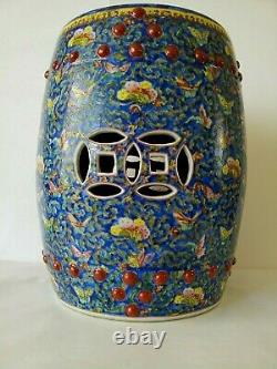 Chinese Famille Rose Porcelain Hand Painted Garden Seat
