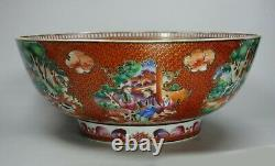 Chinese famille rose hunting bowl, Qianlong (1736-95), with European figures
