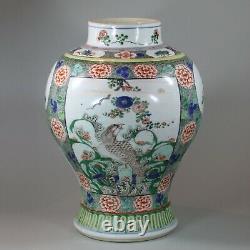 Chinese famille verte baluster vase, Kangxi (1662-1722)