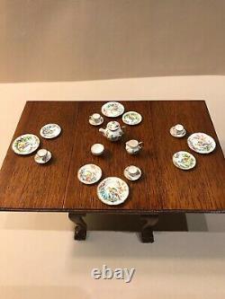 Christopher Whitford Dollhouse Miniature Hand painted Porcelain Tea Set 112