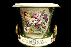 Derby Porcelain Campana Vase c 1820 with Exquisite Hand Painted Floral Bouquet