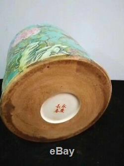 Exquisite Chinese Porcelain Flowers Birds Brush Pot Marks YongQingChangChun