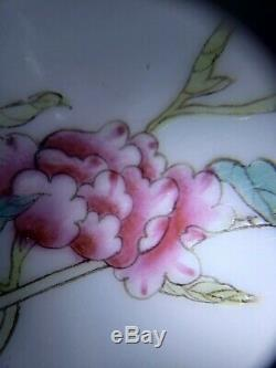 Fine Chinese Handpainted Famille Rose Porcelain Dish Plate