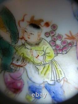 Fine Chinese Handpainted Famille Rose Porcelain Plate