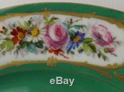 French Antique, Sevres Porcelain, 1872, Chateau de Dreux. 2 Plates, Hand Painted